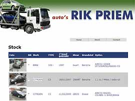 AUTO'S RIK PRIEM website