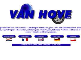 VAN HOVE NV website