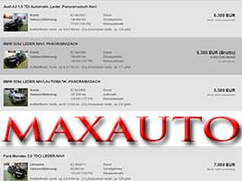 MAXAUTO BVBA website